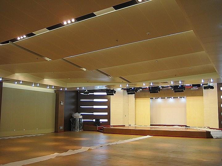 中石化培训中心报告厅天花及墙面