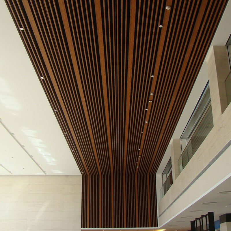北京软通大堂实木面铝板